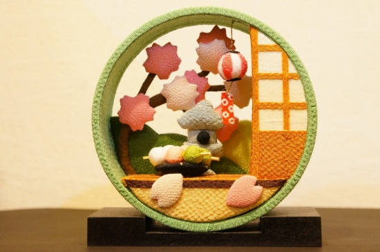 京の町家 4月 さくら/座敷