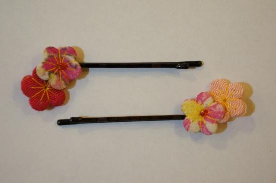 花ヘアピン(2本セット)