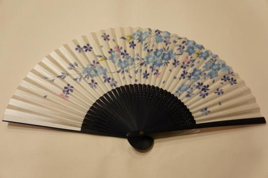 扇子 桜(青)