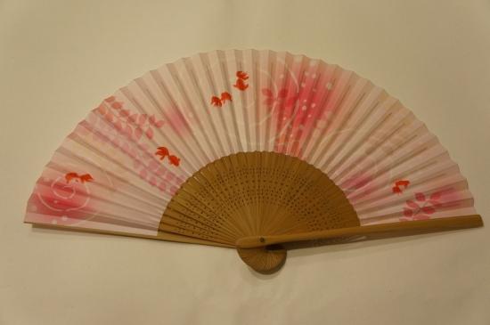 扇子 金魚(ピンク)