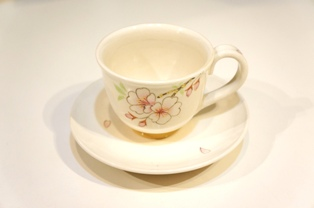 コーヒー碗皿 白桜